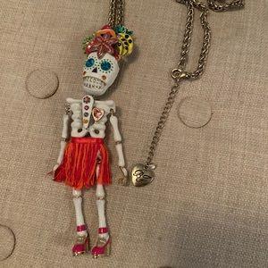 Betsey Johnson Skull Fruit Girl Necklace